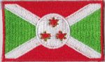 Burundi Embroidered Flag Patch, style 04